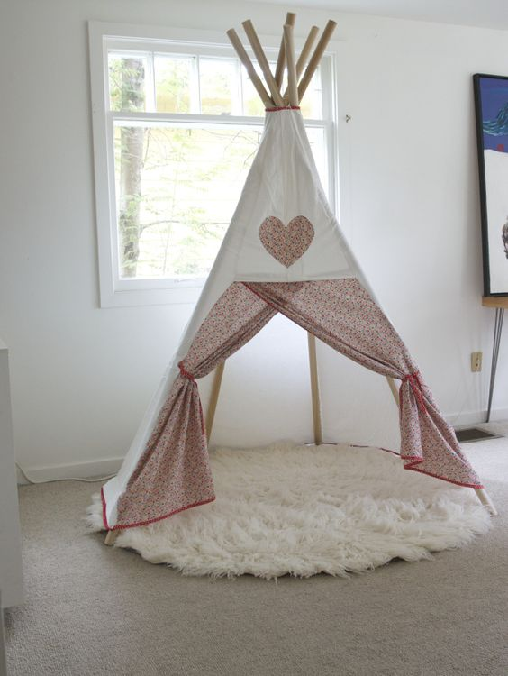inspiration to make diy teepee diy ideas. Black Bedroom Furniture Sets. Home Design Ideas